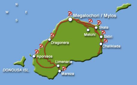 Agistri island map Greece