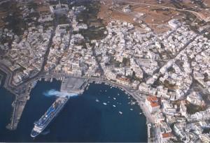 Chora main city of Tinos Greece