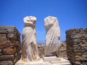 Delos island in the Cyclades, Greece