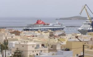 Syros ferries Cyclades Greece