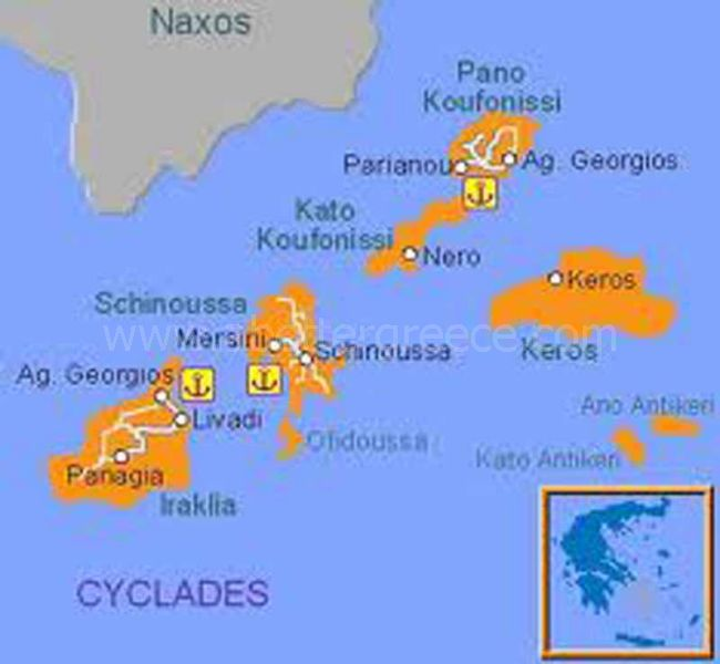 map of Koufonisia Greece