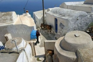 Anafi Chora village, Cyclades, Greece