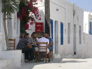 villages on Schinnousa, Cyclades, Greece