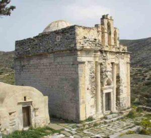 ναος στη Σικινο στις Κυκλάδες