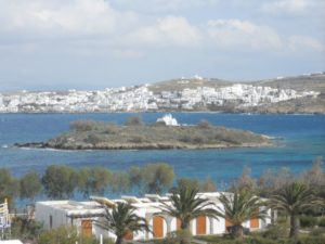Naoussa village on Paros island in Greece