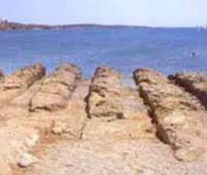 The ancient shipyard in Drios village on Paros island in Greece