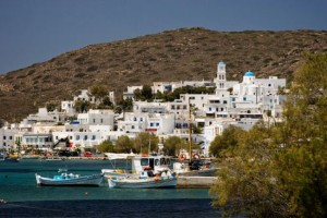 Adamas village on Milos, Cyclades, Greece