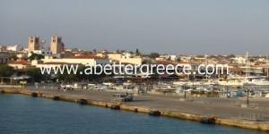 Aegina town in Greece