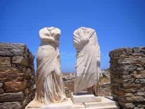 Delos island in the Cyclades, Greece