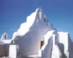 Mykonos churches, Cyclades, Greece