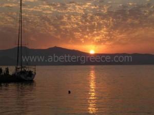 Naxos view Cyclades Greece