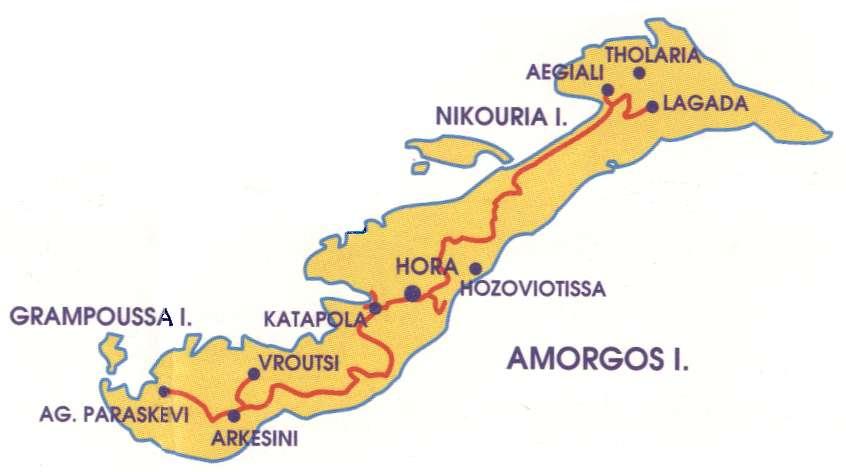 Amorgos map Greece