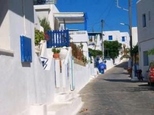 Schinnousa settlements Cyclades Greece