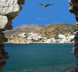 Sikinos villages, Cyclades, Greece