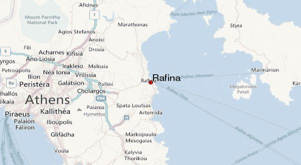 map of Rafina, Greece