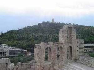 Philopappou hill, Athens, Greece