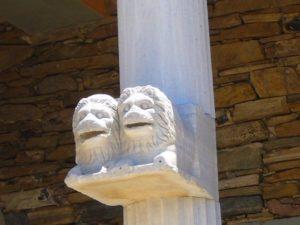 το αρχαιολογικο νησί της Δήλου στις Κυκλάδες